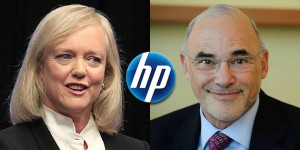 Meg-Whitman-UP,Léo-Apotheker down