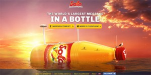 head the world's largest letter in a bottle