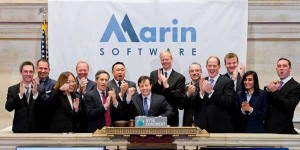 the soaring stock prices of marin software show the bull market of online ad software