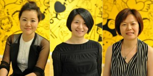 From left to right - Lu Jie & Denise Tang & Virginia Tang