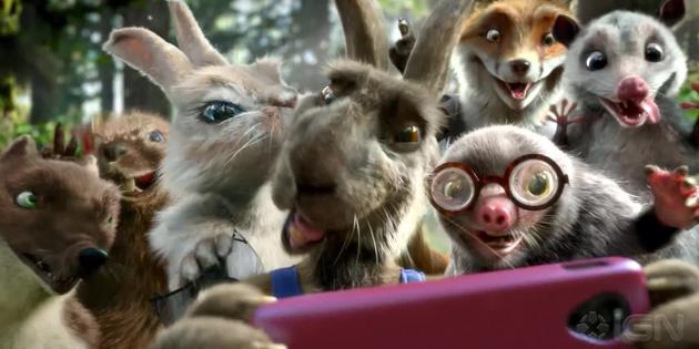 群说着流利英语的动物们在举办着一场看起来老掉牙的比赛——龟兔赛跑