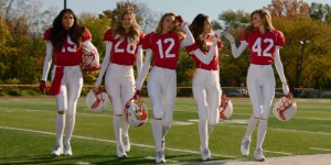 Victoria's Secret Angels Play Football