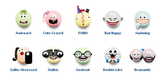该系列广告是为了配合曼妥思推出的一款表情包,这些表情符号是邀请图片