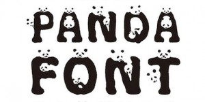 panda font