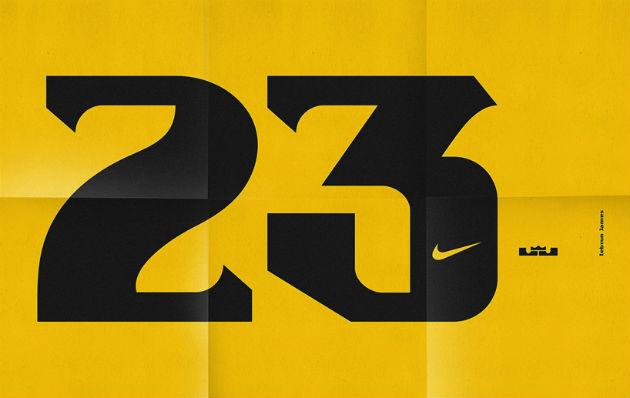 """定制鞋虽然好,但如果有人为你打造个人专属字体会不会更牛逼? 向来具有品牌意识的耐克最近又委托伦敦知名设计组合Sawdust为勒布朗·詹姆斯(LeBron James)设计了个人字体,在此之前,Sawdust还为""""耐克篮球鞋""""(NIKE basketball)的科比布•莱恩特(Kobe Bryant) 和凯文•杜兰特(Kevin Durant)篮球鞋设计过品牌专属字体。在耐克看来,每套字体都是球员个人品牌的延伸,同样都是耐克重要的品牌产品,其定制化带"""