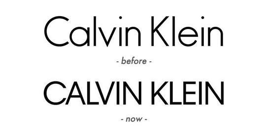 创意素材 时装品牌Calvin Klein启用全新Logo 熟悉的CK变样了