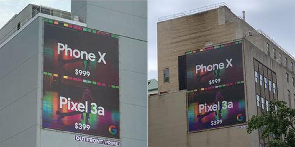 Google Pixel 3a大幅广告
