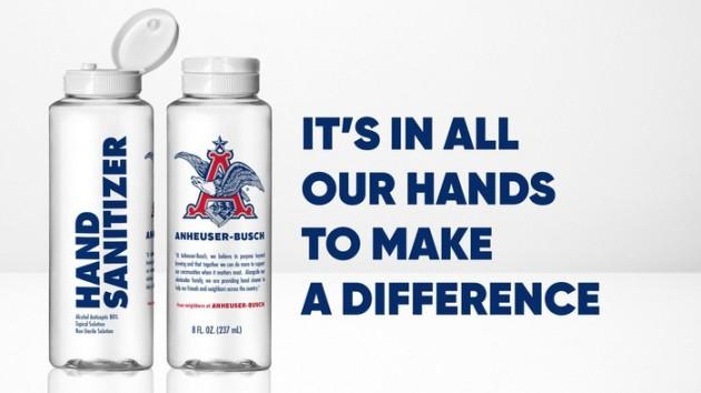 ABInbev-hand sanitizer-20200324